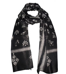 Kantha Embroidered Stoles Manufacturer in Delhi, India